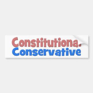Pegatina para el parachoques conservadora pegatina para auto