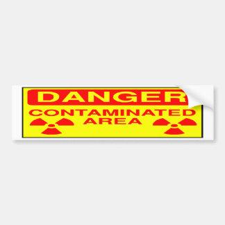Pegatina para el parachoques contaminada del área pegatina para auto