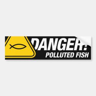 Pegatina para el parachoques contaminada peligro pegatina para auto