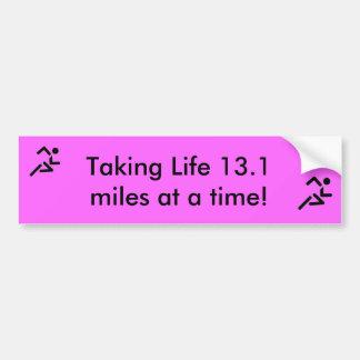 Pegatina para el parachoques corriente del maratón pegatina para auto