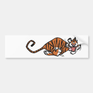 Pegatina para el parachoques corriente del tigre d etiqueta de parachoque