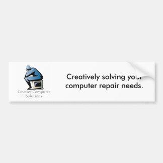 Pegatina para el parachoques creativa de las soluc pegatina de parachoque