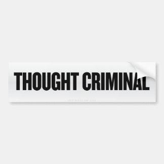 Pegatina para el parachoques criminal pensada etiqueta de parachoque