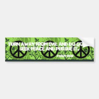 Pegatina para el parachoques cristiana de la paz pegatina para auto