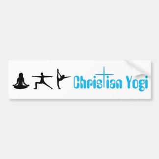 Pegatina para el parachoques cristiana de la yoga  pegatina para auto