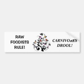 Pegatina para el parachoques cruda de Foodist Pegatina Para Auto