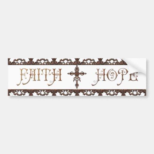 Pegatina para el parachoques cruzada de la fe de l etiqueta de parachoque