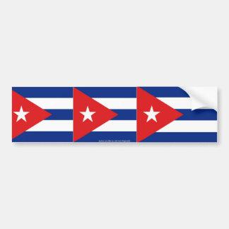 Pegatina para el parachoques cubana de la bandera pegatina para auto