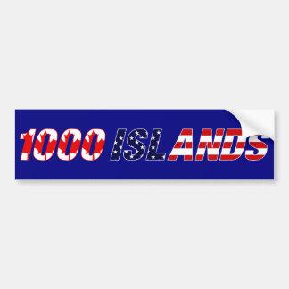 Pegatina para el parachoques de 1000 islas pegatina para auto