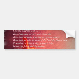 Pegatina para el parachoques de 10 mandamientos etiqueta de parachoque