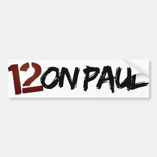 pegatina para el parachoques de 12on Paul Pegatina Para Auto