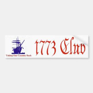 Pegatina para el parachoques de 1773 clubs pegatina para auto