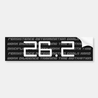 pegatina para el parachoques de 26 2 maratones pegatina de parachoque