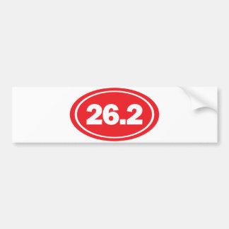 pegatina para el parachoques de 26,2 maratones pegatina de parachoque