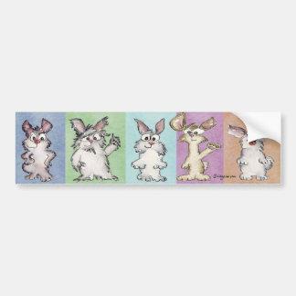 Pegatina para el parachoques de 5 conejos del arco pegatina para auto