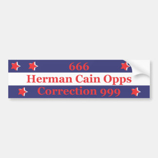 Pegatina para el parachoques de 666 Herman Caín Pegatina Para Auto