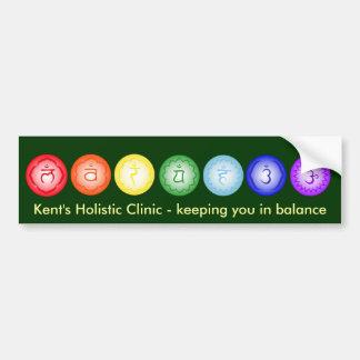 Pegatina para el parachoques de 7 Chakras Etiqueta De Parachoque