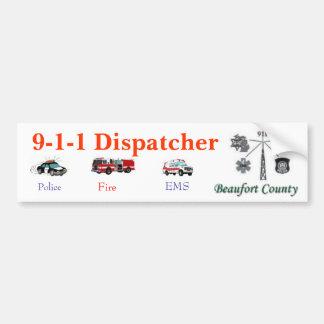 Pegatina para el parachoques de 911 despachadores pegatina para auto