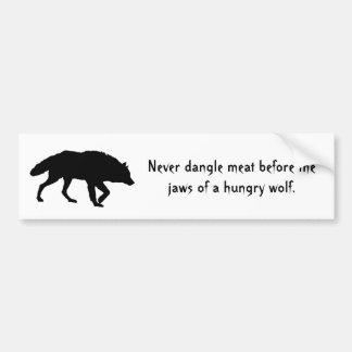 Pegatina para el parachoques de acecho del lobo etiqueta de parachoque