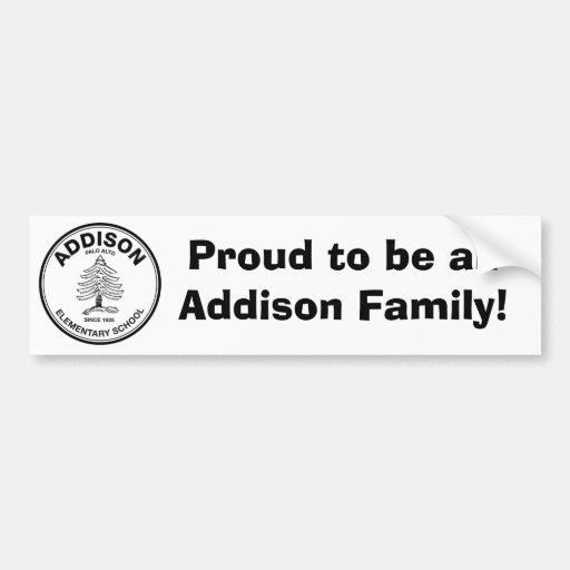 Pegatina para el parachoques de Addison Etiqueta De Parachoque