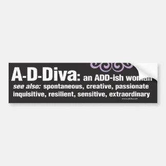 Pegatina para el parachoques de ADDiva - negro Pegatina Para Auto