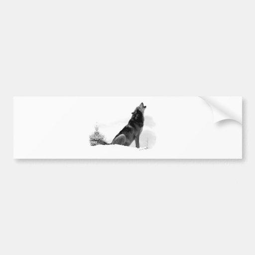 Pegatina para el parachoques de Alaska del lobo de Pegatina Para Auto