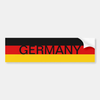 Pegatina para el parachoques de Alemania Pegatina De Parachoque