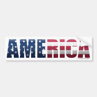 Pegatina para el parachoques de América Pegatina De Parachoque