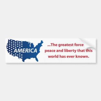 ¡Pegatina para el parachoques de América de la pa Etiqueta De Parachoque