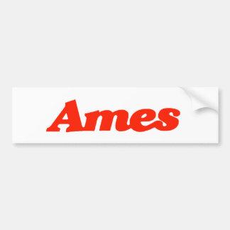 Pegatina para el parachoques de Ames Etiqueta De Parachoque