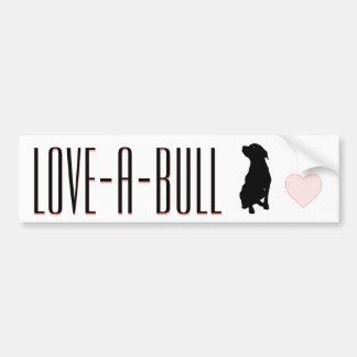 Pegatina para el parachoques de Amor-UNO-Bull Pegatina Para Auto