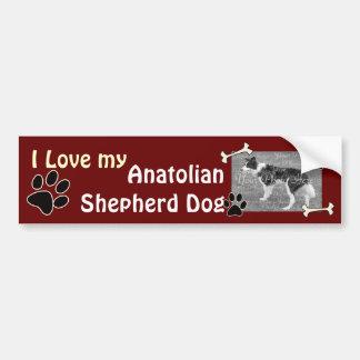 Pegatina para el parachoques de Anatolia del perro Pegatina Para Auto