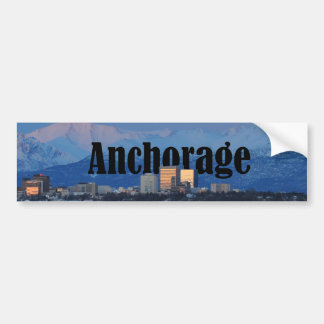 Pegatina para el parachoques de Anchorage Alaska Pegatina Para Auto