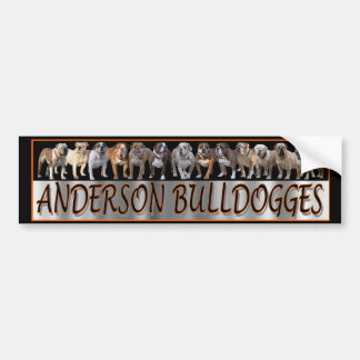 Pegatina para el parachoques de Anderson Bulldogge Pegatina Para Auto