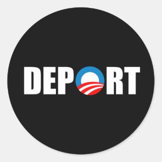 Pegatina para el parachoques de Anti-Obama - ahora