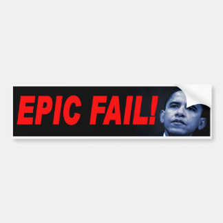 Pegatina para el parachoques de Anti-Obama Etiqueta De Parachoque