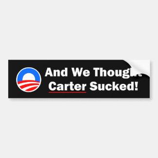 Pegatina para el parachoques de Anti-Obama Pegatina De Parachoque