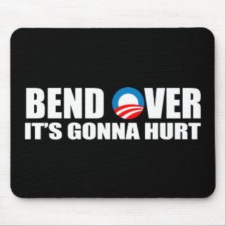 Pegatina para el parachoques de Anti-Obama - la cu Mousepad