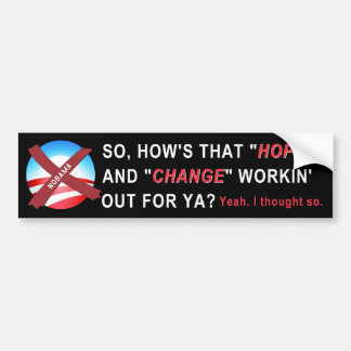 Pegatina para el parachoques de Anti-Obama (negro) Pegatina Para Auto