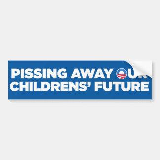 Pegatina para el parachoques de Anti-Obama (para l Pegatina De Parachoque