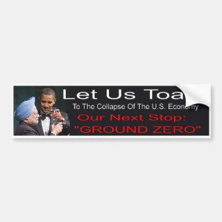 Pegatina para el parachoques de Anti-Obama Pegatina Para Auto