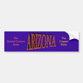 Pegatina para el parachoques de Arizona Etiqueta De Parachoque