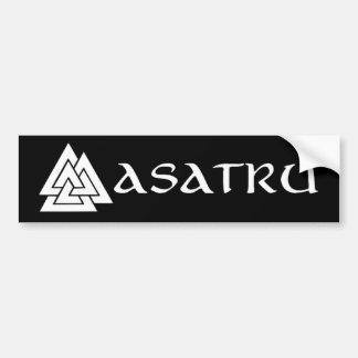 Pegatina para el parachoques de Asatru Etiqueta De Parachoque