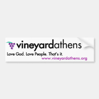 Pegatina para el parachoques de Atenas del viñedo Pegatina Para Auto