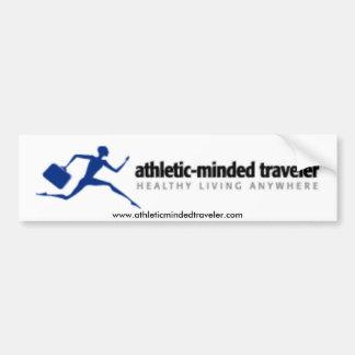 Pegatina para el parachoques de AthleticMindedTrav Pegatina De Parachoque