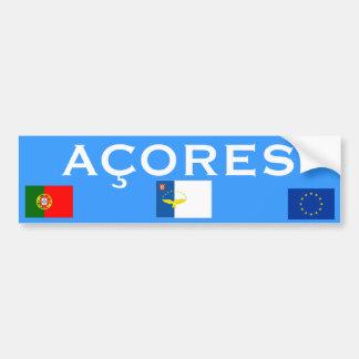 Pegatina para el parachoques de Azores Islands* Pegatina Para Auto