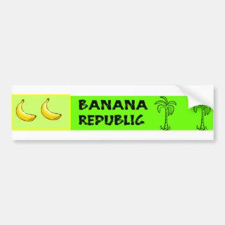 Pegatina para el parachoques de Banana Republic Pegatina De Parachoque