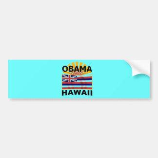 Pegatina para el parachoques de Barack Obama Hawai Etiqueta De Parachoque