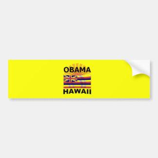 Pegatina para el parachoques de Barack Obama Hawai Pegatina De Parachoque