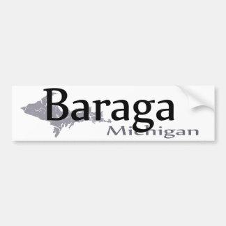 Pegatina para el parachoques de Baraga Michigan Pegatina Para Auto